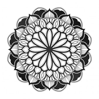 Mandala bloemdecoratie. geometrische stijl. indiaas, arabisch, islamitisch. visitekaartje, cover boek. met een groene tuin blauw.
