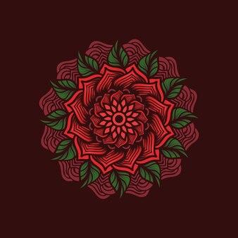 Mandala bloemen