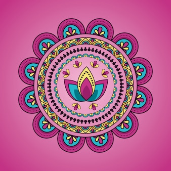 Mandala bloemendecoratie etnische