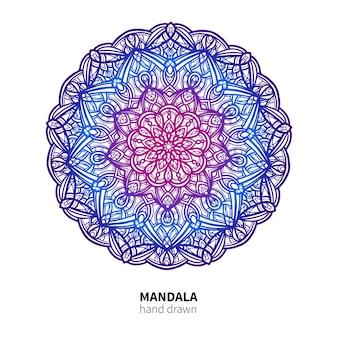Mandala bloementekening.