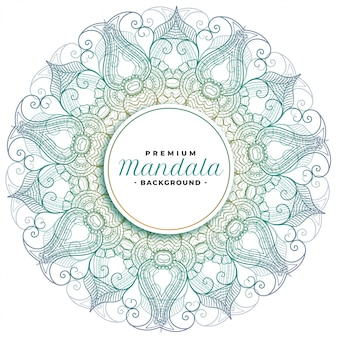 Mandala bloemsierkunst decoratief ontwerp