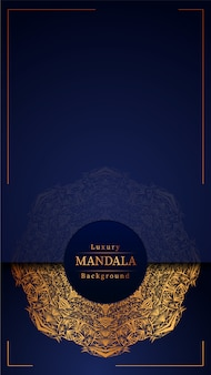 Mandala blue-achtergrond