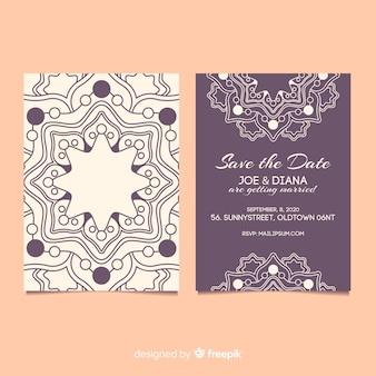 Mandala concept uitnodiging