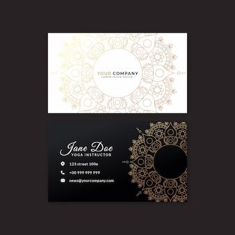 Mandala concept voor zakenkaart