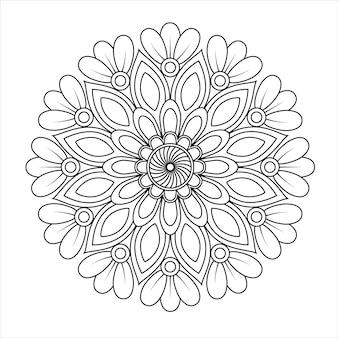 Mandala de wervelingen afdrukbare kleurplaten.