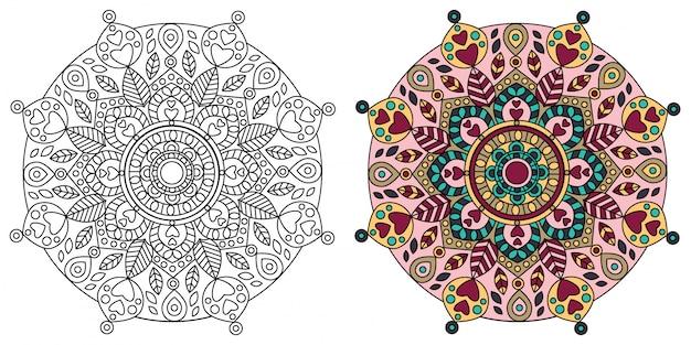 Mandala design kleurplaat voor volwassenen