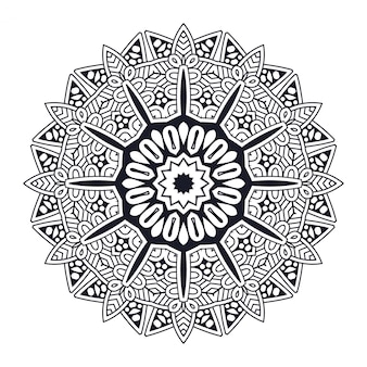 Mandala Design op witte achtergrond