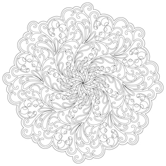 Mandala. etnische decoratieve elementen. islam, arabische, indiase, ottomaanse motieven.