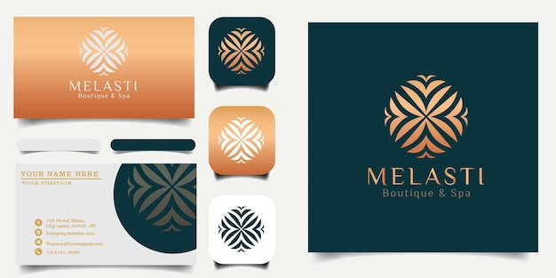 Mandala_flower_logo_template_and_business_card