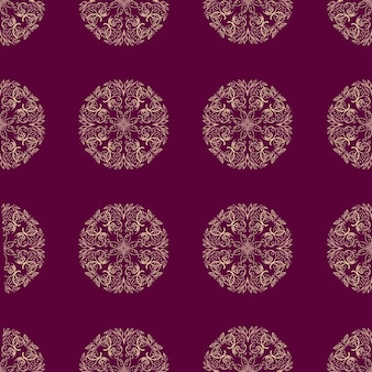 Mandala flower naadloze patroon