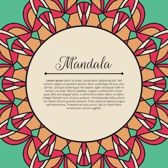 Mandala geometrische achtergrondpatroon