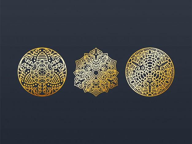 Mandala gouden verpakking.