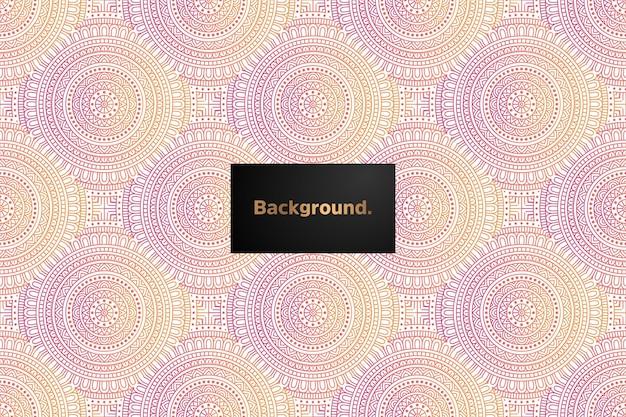Mandala gradiënt naadloos patroonontwerp