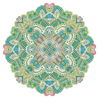 Mandala hand getrokken achtergrond. oosterse, arabische, indiase, abstracte doodle en bloemmotieven.