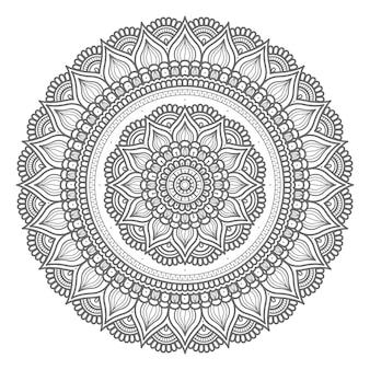 Mandala illustratie in cirkelvormige stijl