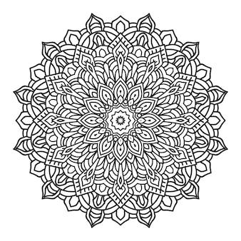 Mandala in zwart-wit stijl achtergrond inkleuren