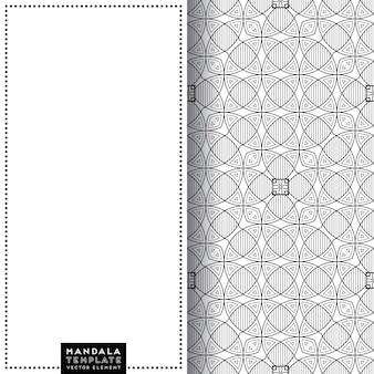 Mandala-kaart met etnische decoratieve elementen patroon