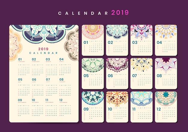 Mandala-kalendermodel