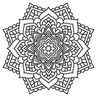 Mandala kant. etnisch ontwerp.