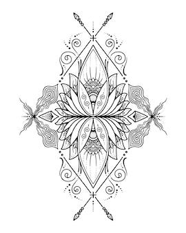 Mandala. kleurplaat
