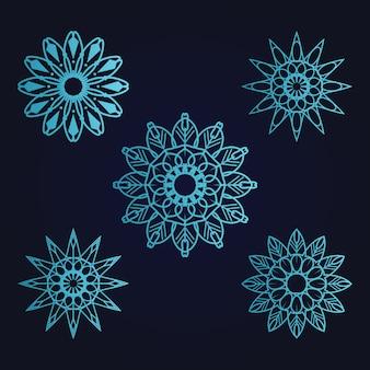 Mandala kunst sieraad bloemen etnische kleurverloop