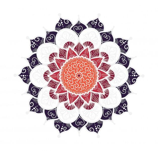 Mandala lijnsjabloon