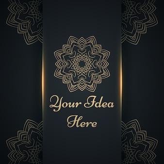 Mandala, mehendi - gouden etnische sjabloon.