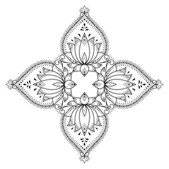 Mandala, mehndi. decoratief ornament in etnische oosterse stijl.