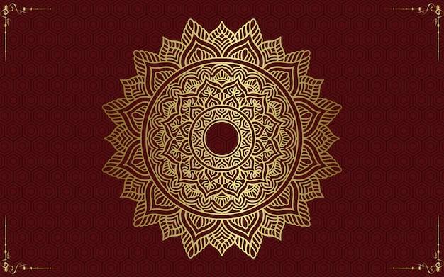 Mandala met bloemenornamentpatroon