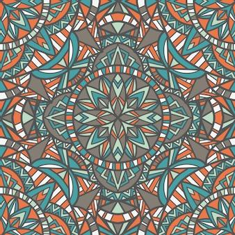 Mandala naadloos patroon. tribal sieraad.