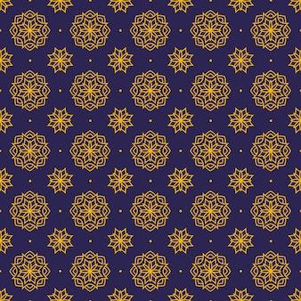 Mandala naadloos patroonbehang als achtergrond. elegant traditioneel motief. luxe geometrisch. klassieke batik.