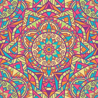 Mandala naadloos patroonontwerp voor afdrukken. tribal ornament.