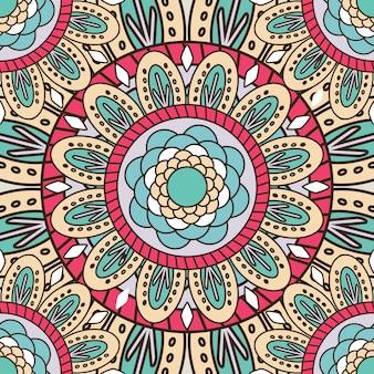 Mandala naadloze patroon achtergrond