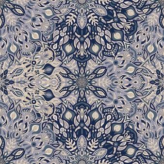 Mandala naadloze patroon achtergrond.