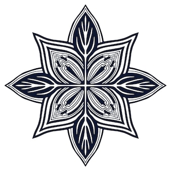 Mandala ontwerp. boek kleurplaat