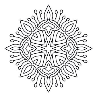 Mandala ontwerp. boek kleurplaat Premium Vector