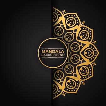 Mandala-ontwerp met gouden gradiënt