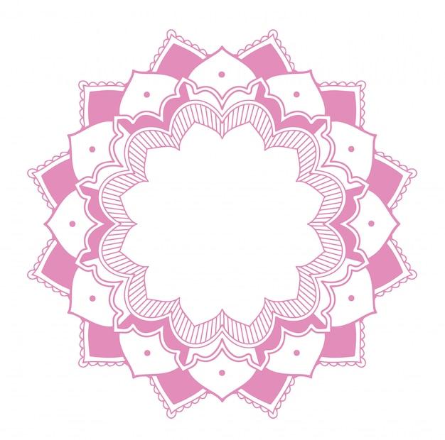 Mandala-ontwerp met roze kleur