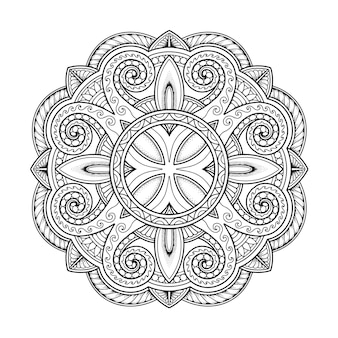 Mandala-ontwerp voor kleurplaat volwassene