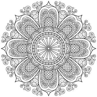 Mandala-ontwerp voor kleurplaat