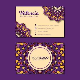Mandala-ontwerp voor visitekaartje