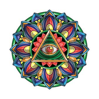 Mandala oog kunst