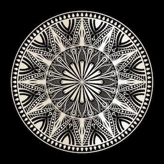 Mandala op zwart en wit