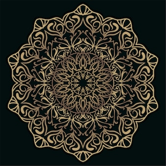 Mandala ornament of bloem achtergrond.