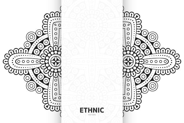 Mandala ornament patroon. vintage decoratieve elementen achtergrond