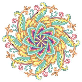 Mandala-pastelkleur voor print- of muurschilderingontwerp