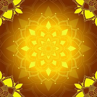 Mandala-patronen op bruin