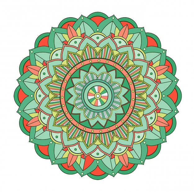 Mandala patronen op geïsoleerde achtergrond