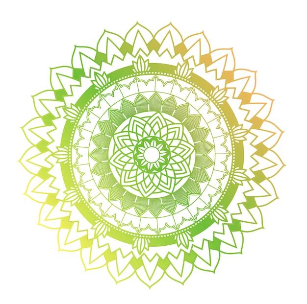 Mandala-patronen op geïsoleerde