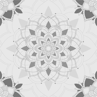 Mandala-patronen op grijze achtergrond